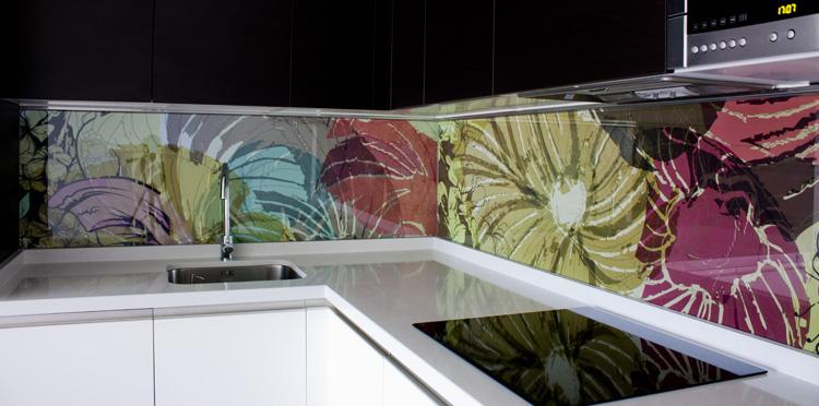 Frente cocina cristal vinilo env s dise o interiorismo - Frente cocina cristal ...