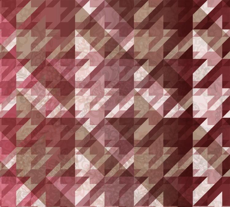 Nuestra versión wallpaper de la pata de gallo floral en tonos rosados